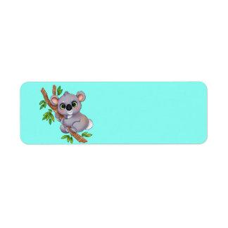 Animated Koala Bear Return Address Label