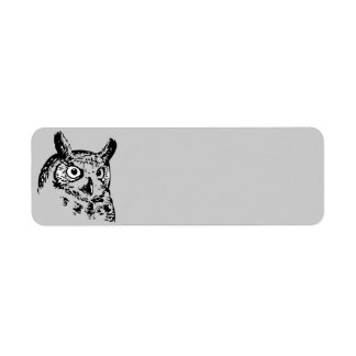 Animated Owl Return Address Label