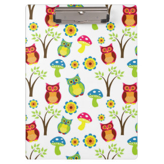 Animated Owls Background Clipboard