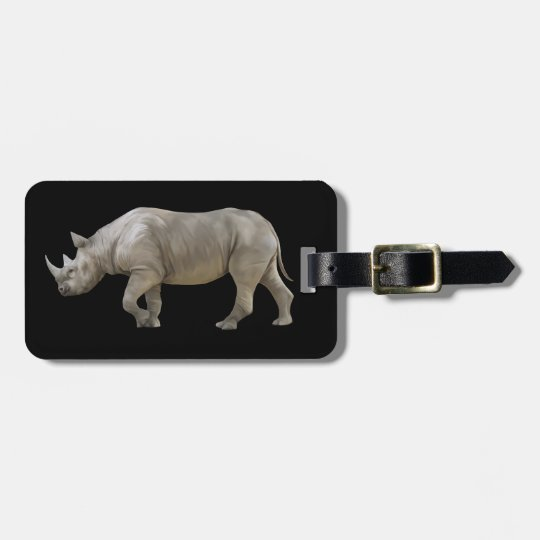 Animated Rhinocerose Luggage Tag