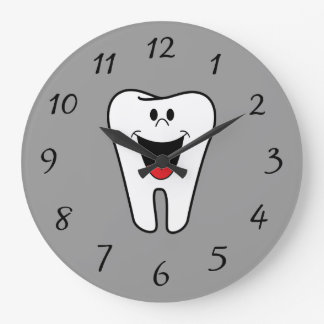 Animated Smiling Tooth Large Clock