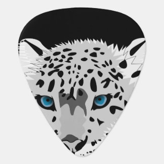 Animated Snow Leopard Guitar Pick