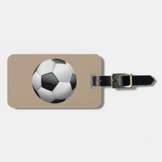 Animated Soccer Ball Luggage Tag