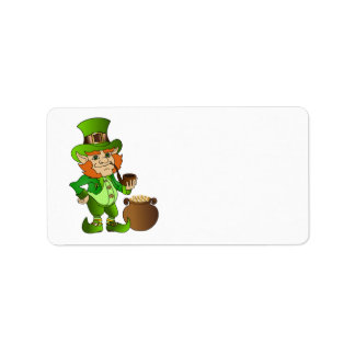 Animated St. Patrick's Day Leprechaun Label