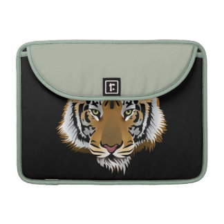 Animated Tiger Face MacBook Pro Sleeves