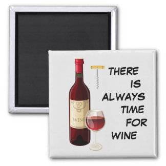 Animated wine bottle and glass magnet