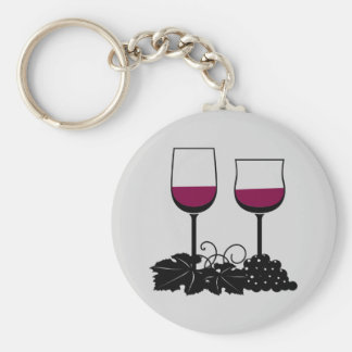 Animated Wine Glasses Keychain