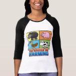 Animaux de ferme de bande dessinée - je cultiverai t-shirts