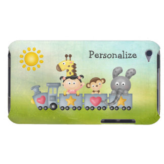 Animaux et fille mignons sur le train coque barely there iPod