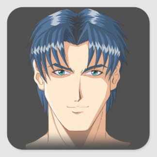 Anime and Manga Faces Square Sticker