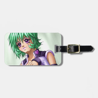 Anime Cover up Girl Luggage Tag