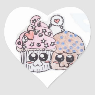 anime cupcake and muffin in love stickers