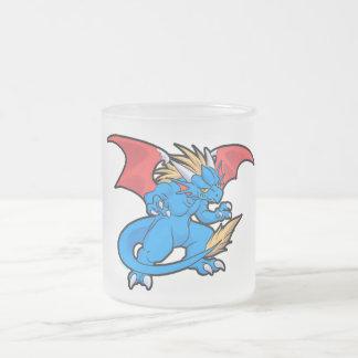 Anime dragon frosted glass mug