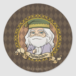 Anime Dumbledore Classic Round Sticker