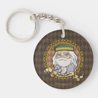 Anime Dumbledore Double-Sided Round Acrylic Keychain