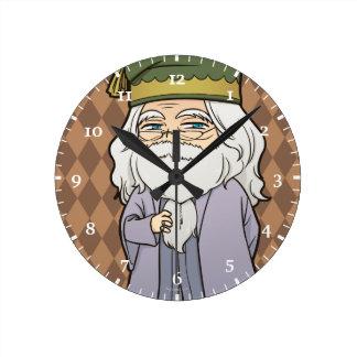 Anime Dumbledore Round Clock