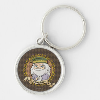 Anime Dumbledore Silver-Colored Round Keychain