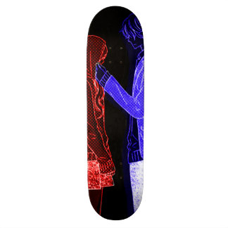 Anime Full Color Neon Emo Skate Deck