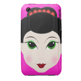 Anime Geisha Girl Blackberry Curve Case-Mate Case Case-Mate iPhone 3 Cases