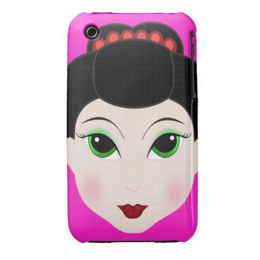 Anime Geisha Girl Blackberry Curve Case-Mate Case Case-Mate iPhone 3 Cases