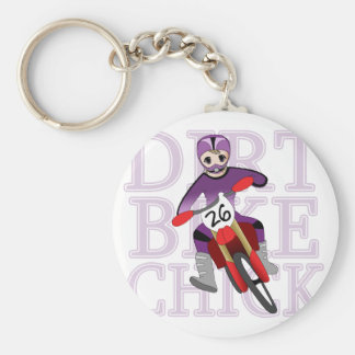 Anime Girl Dirt Bike Chick Keychain