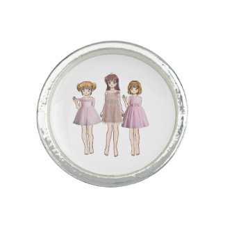 Anime girls photo rings