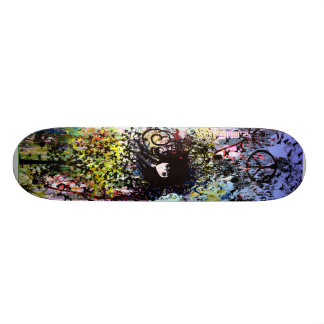 Anime Grunged City Skateboard