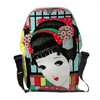 Anime Japanese Beauty Rickshaw Messenger Bag