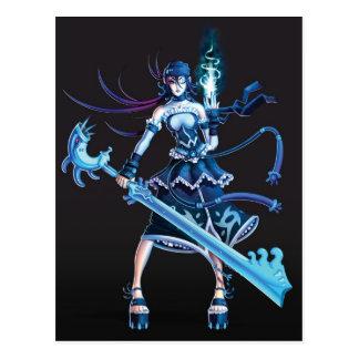 Anime Pirate Girl Postcard