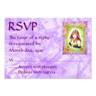 Anime Princess RSVP Invites