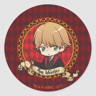 Anime Ron Weasley Classic Round Sticker