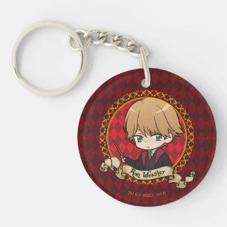 Anime Ron Weasley Double-Sided Round Acrylic Keychain