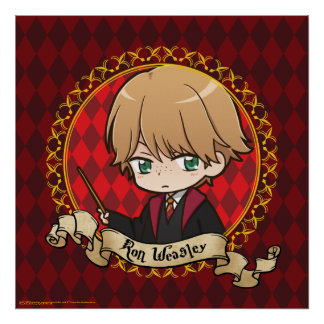 Anime Ron Weasley Poster