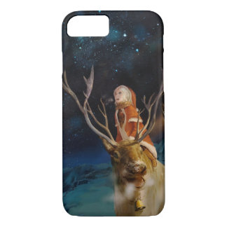 Anime Santa and Reindeer Phone Case