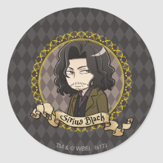 Anime Sirius Black Classic Round Sticker