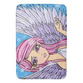Anime Snow Angel Personalizabel art print Bathroom Mat