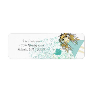 Anime Tea Party Invitation Return Address
