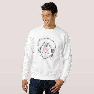 Anime they them pronoun sweatshirt
