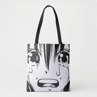 Anime Tote Bag: Crying Girl (All Over Print)