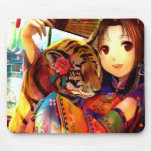Anime With Tiger Mousepads