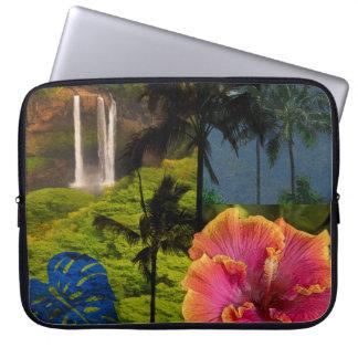 Anini Beach, Kauai Hawaiian Collage Wetsuit Laptop Sleeve