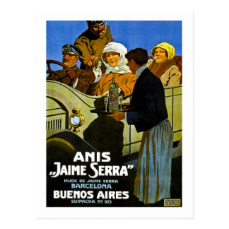 Anis Jaime Serra Buenos Aires - Vintage Ad Postcard