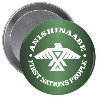 Anishinaabe (Ojibwe, Chippewa) 4 Inch Round Button