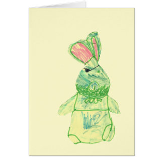 Anita Bunny Blank Full-Color Card Vertical