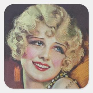Anita Page Square Sticker
