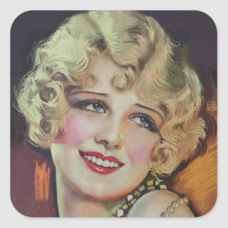 Anita Page Square Sticker