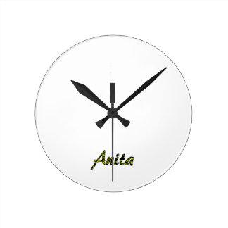 Anita's White Wall Clock