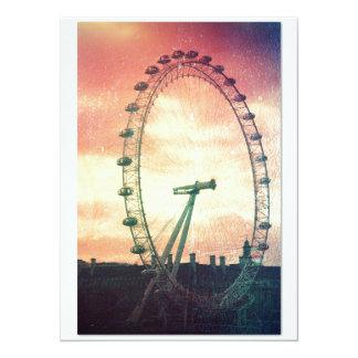 Anitiqued London Eye at Sunrise Card