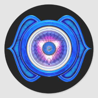 Anja or Third Eye the 6th Chakra Round Sticker