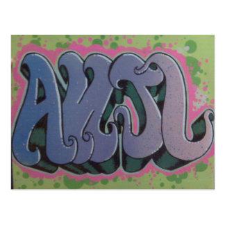 Anjl Stencil postcard